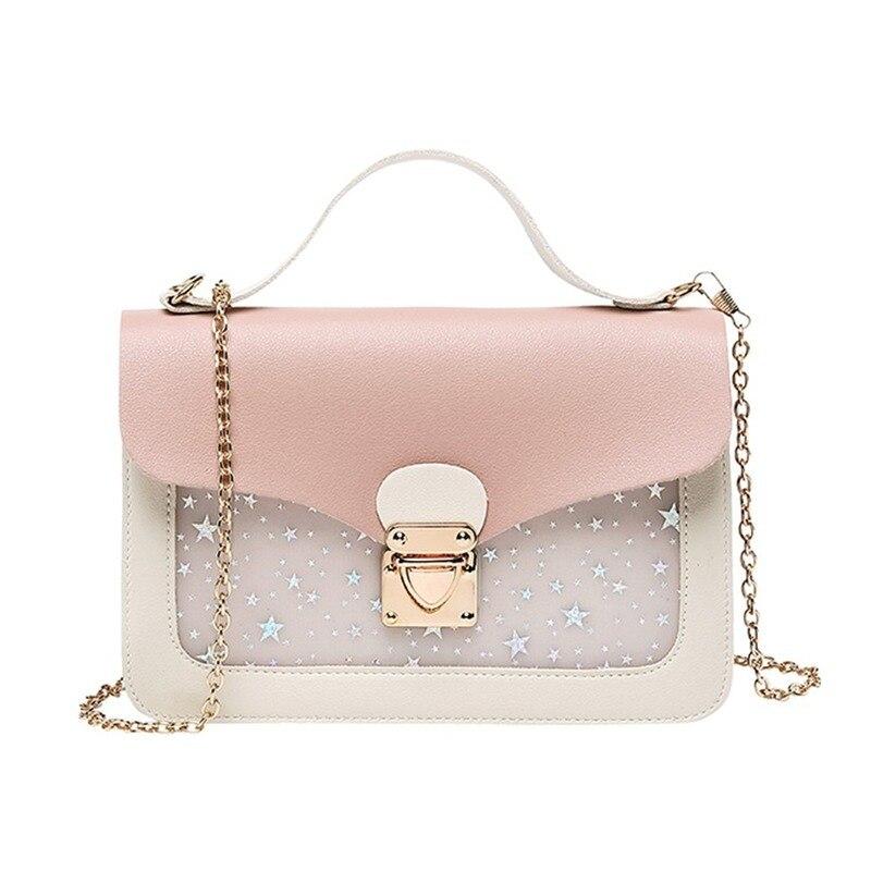 Женская сумка-мессенджер, маленькая, квадратная, с блестками