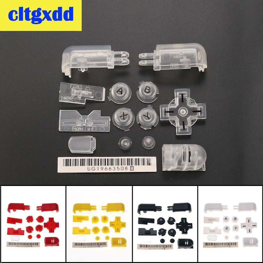 Cltgxdd Multi colores de ABXY L R D Pad Cruz Botón de manga larga con botones de DS Lite N D S L controlador botón rojo amarillo