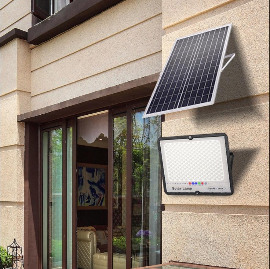 Solar Flood Light Waterproof 100W Led Spotlight Remote Control Outdoor Garden Path Street Lamp Courtyard Wall Lamp for Night enlarge