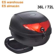 ES Warehouse 36L 72L, carcasa impermeable para motocicleta, para casco único, motocicleta, almacenamiento trasero, caja de herramientas para equipaje, negro