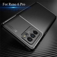 luxury business case for oppo reno 6 pro case for reno 6 pro cover silicone shockproof protective back bumper for reno 6 pro