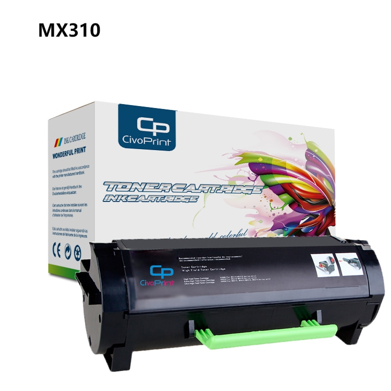 Civoprint متوافق الحبر خرطوشة MX310 410 510 لكسمارك MX310dn MX410de MX511dte MX511dhe MX511de MX510de MX610dw MX611de