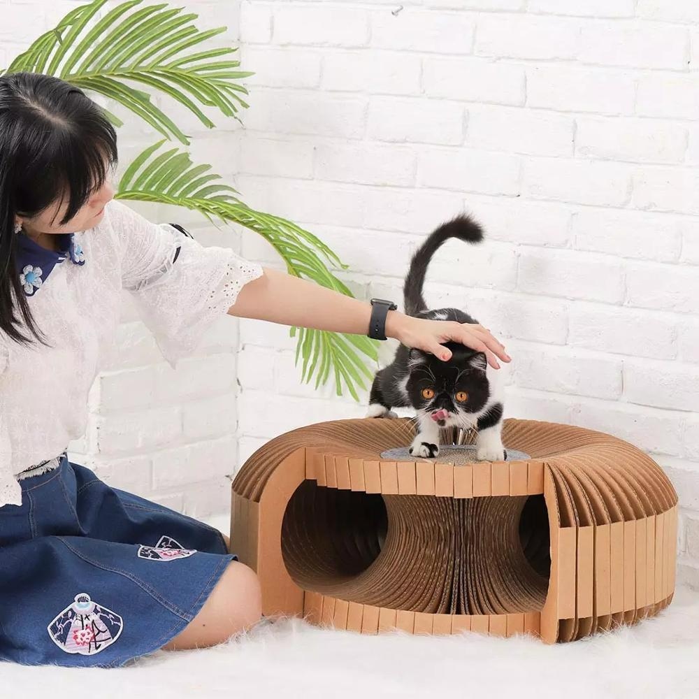 Youpin Pet DIY Corrugated Cat Nest Cat Scratch Board Claw Sharpener Supplies Wear-Resistant Cat Tickle Sofa Box Cat House Toys enlarge