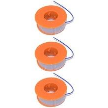 3PCS Strimmer Trimmer Spool And Line For Bosch ART23 Easytrim ART26 Easytrim Plastic Grass Trimmer Head