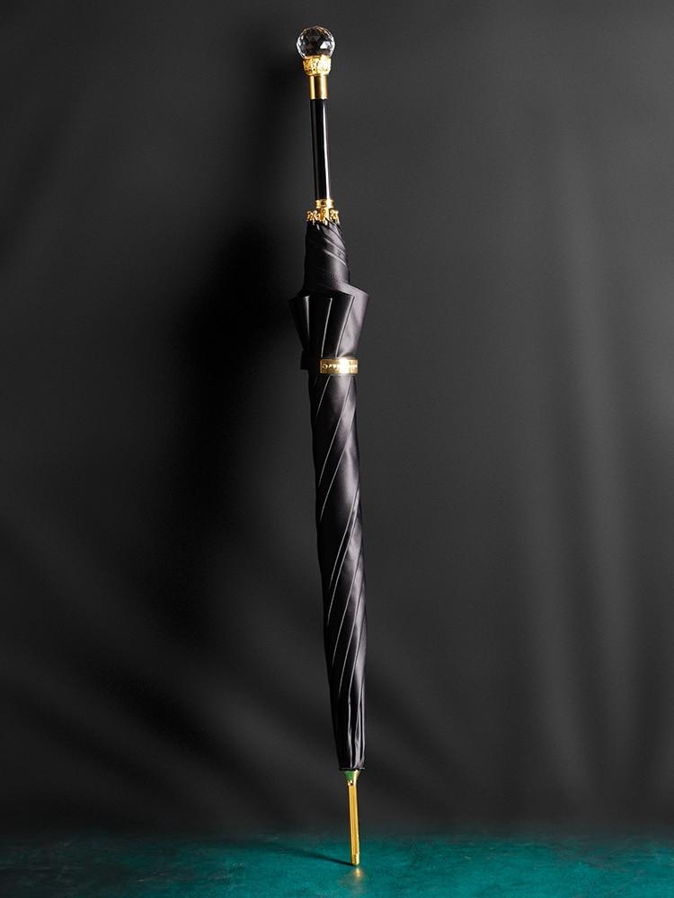 Crystal Long Handle Umbrella Black Waterproof Creative Big Size Umbrella Double Layer Adults Regenschirm Living Utensils EI50UA enlarge