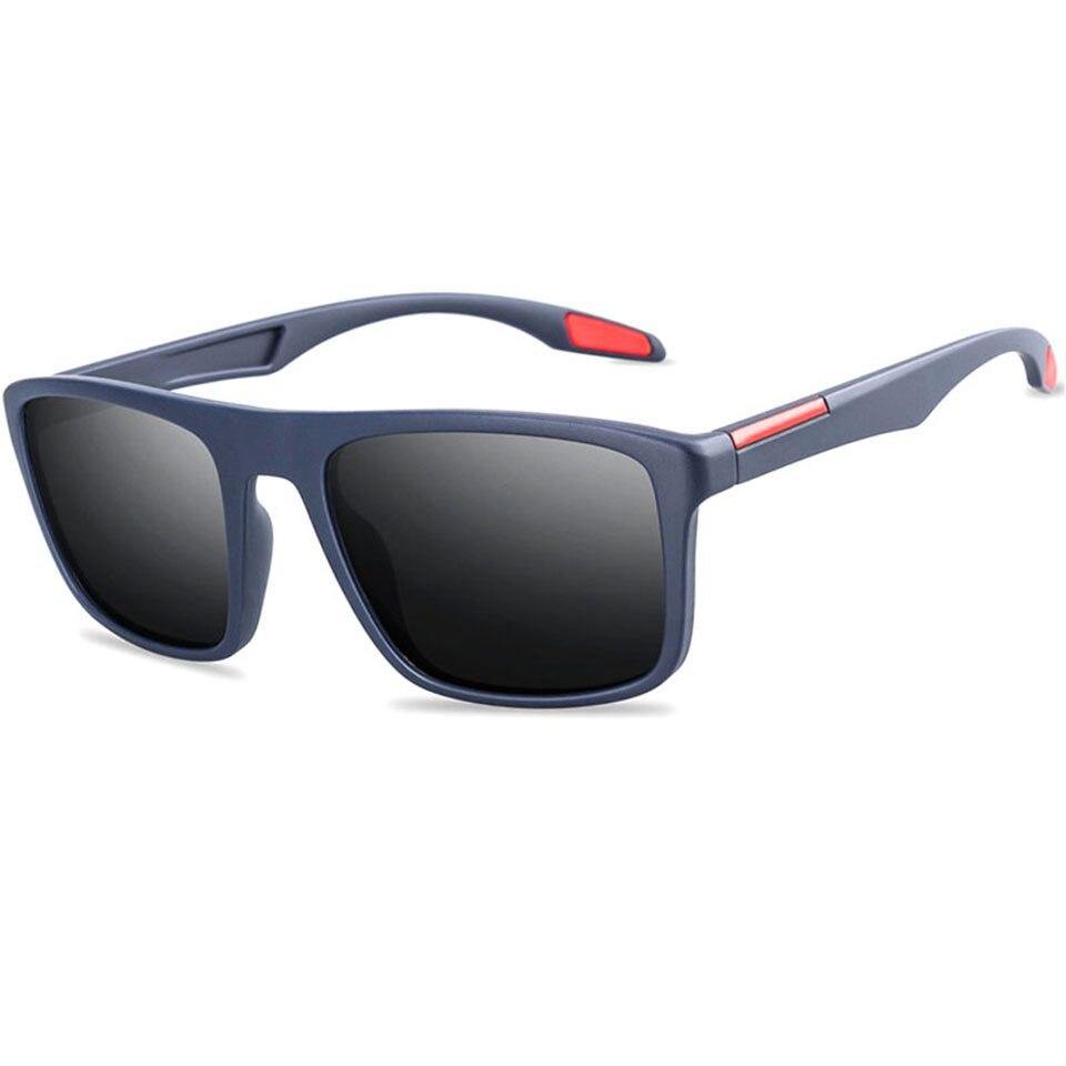 Мужские солнцезащитные очки, классические квадратные поляризационные солнцезащитные очки для мужчин, высококачественные очки для вождени...