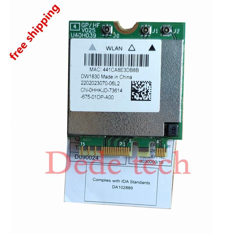 Tarjeta adaptadora inalámbrica para Hackintoshl DW1830 bcm943602based NGFF M.2 WiFi WLAN Bluetooth 4,1 802.11ac 1300Mbps Super DW1560
