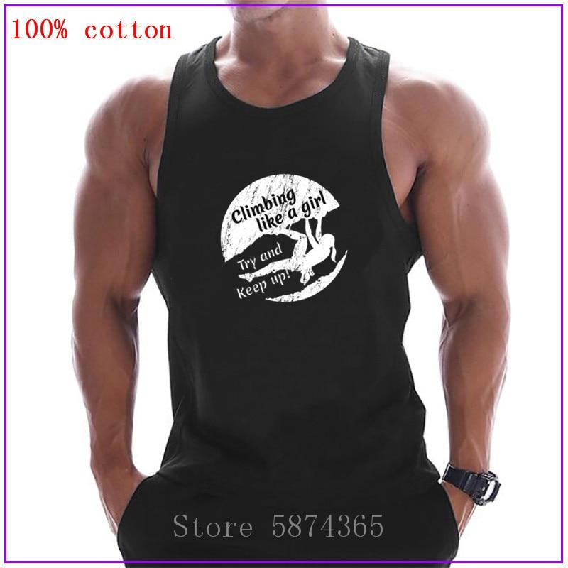 Indoor Rock Climbing Tank Tops New Designs Rock Climb like a girl Bodybuilding Clothing Undershirt Fashion Fitness Stringer Vest