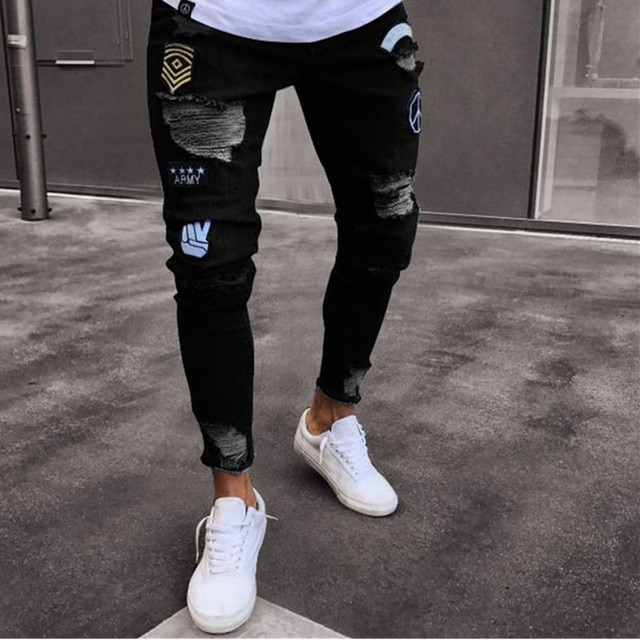 NEW Embroidered Fashion Street Jeans