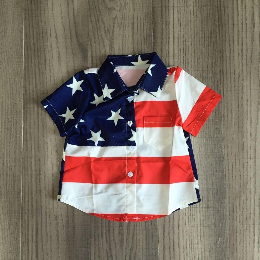 baby boys July 4th shirts kids stars stripe tee baby children US flag print tee