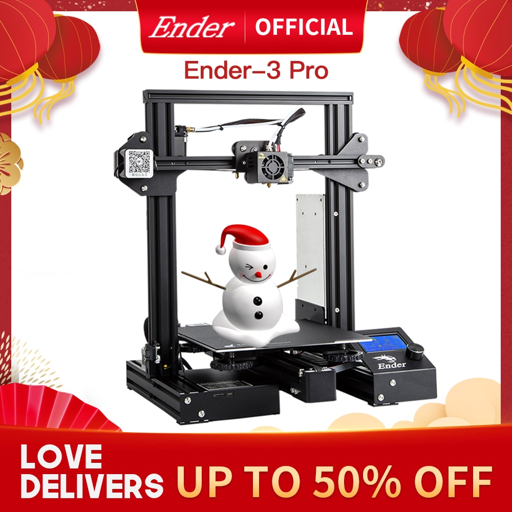 Ender-3 Pro 3D Printer Kit Resume Off Cmagnet Build Plate Large Print Size MW Power Supply Ender 3prox Creality 3D
