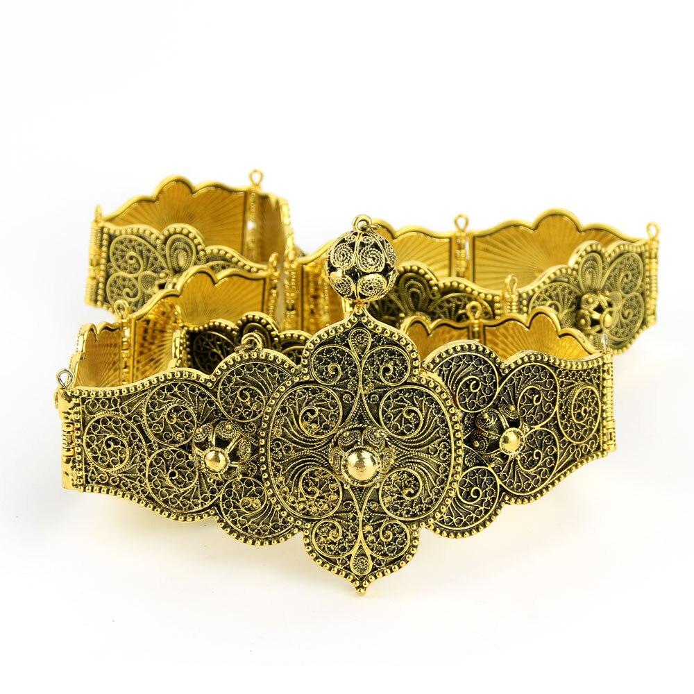 Sunspicems-حزام فستان نسائي ، سلسلة ذهبية وفضية ريترو ، أنماط زخرفية عرقية ، مجوهرات للجسم للمرحلة والزفاف