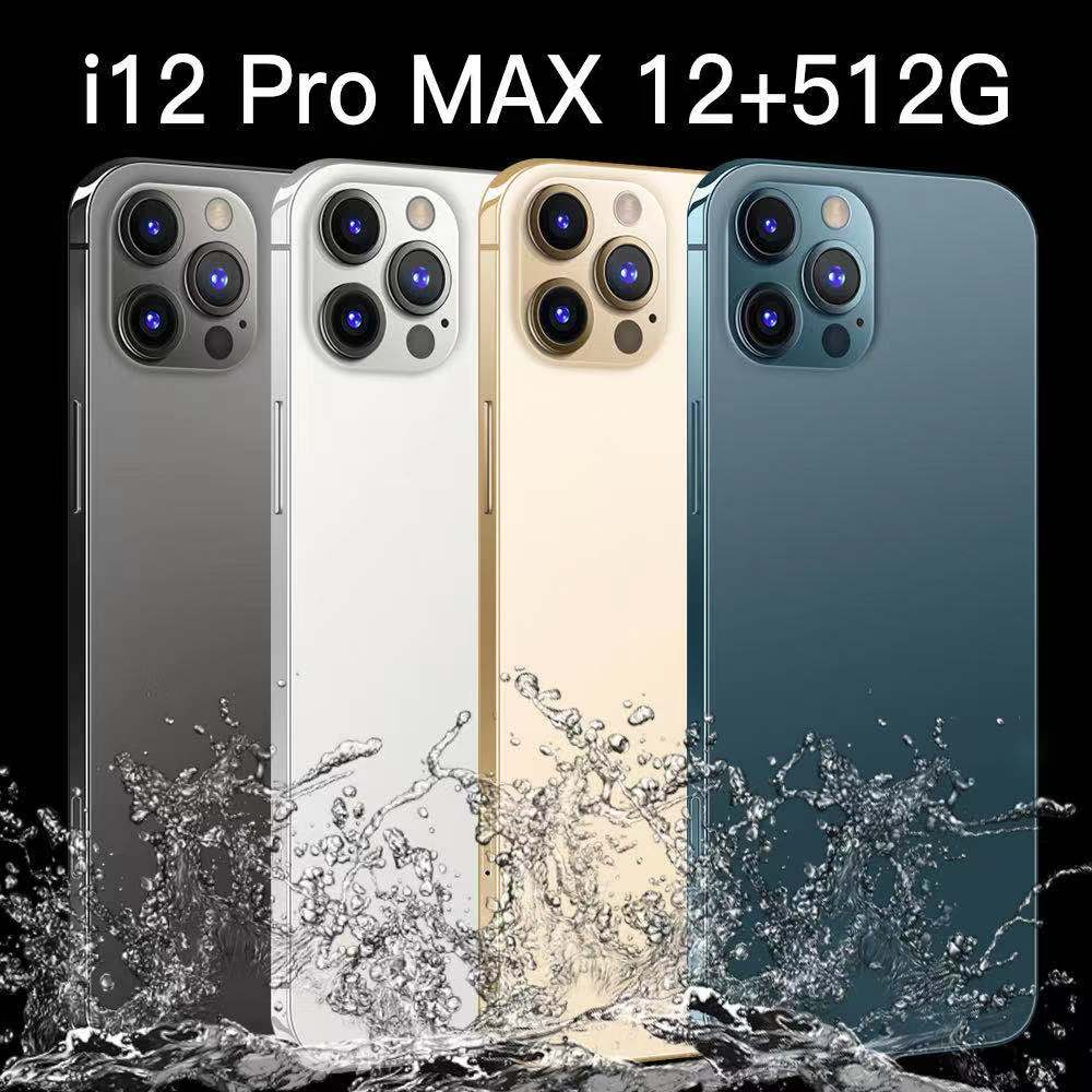 Phone 6.7inch i12 Pro Max 5G Network 4G LTE 12GB+512GB Big Memory Dual Card 5800mAh Android10.0 System Global Version Smartphone