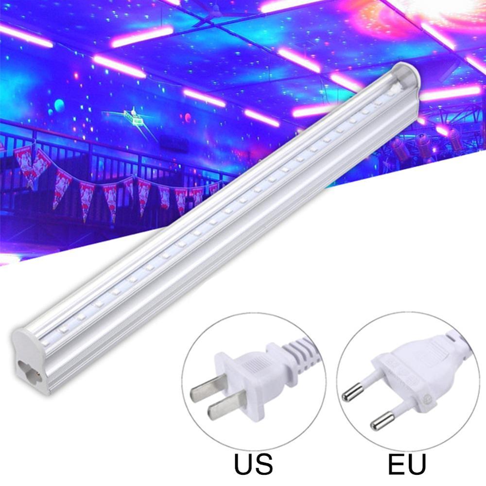 Luces LED de fiesta 5W DJ UV luces LED de escenario luz púrpura de discoteca interruptor de encendido/apagado efecto de Control para fiesta pequeña KTV iluminación de escenario