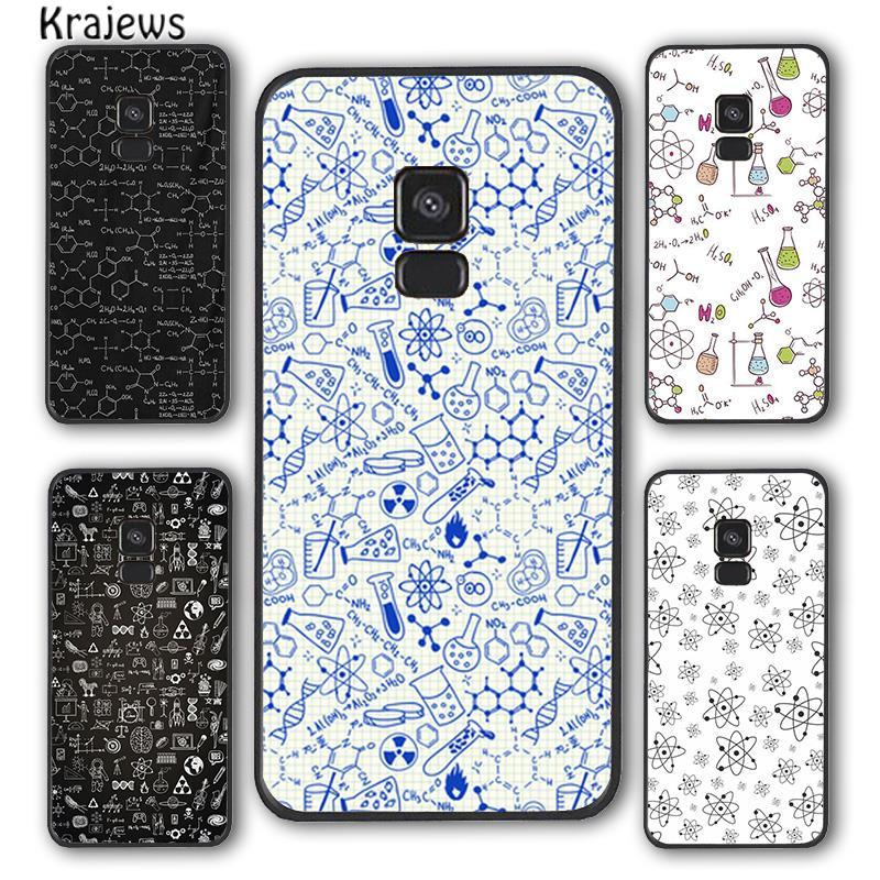 Krajews Atom Science Chemistry Phone Case Cover For Samsung Galaxy S6 S7 edge S8 S9 S10 E lite S20 p