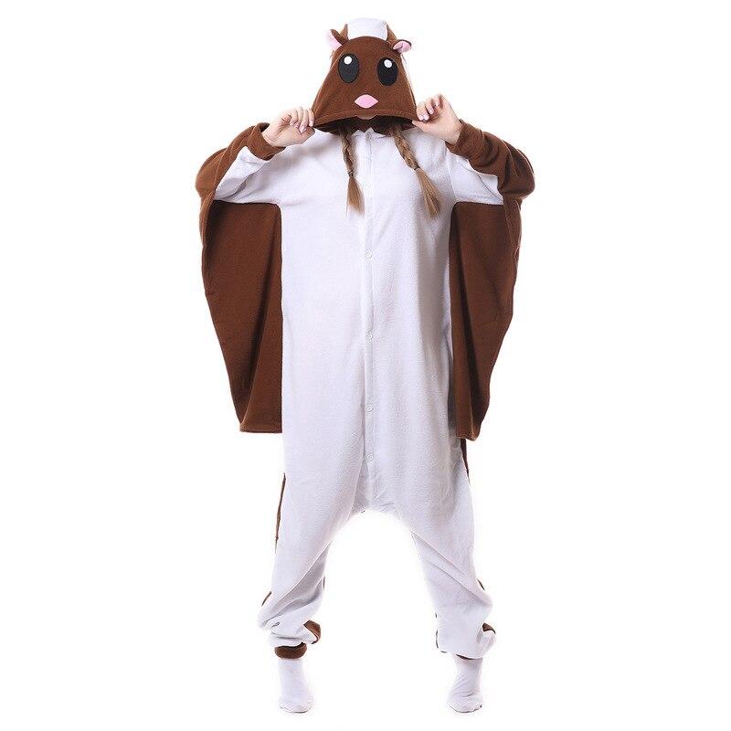 Летающая белка кигуруми Комбинезоны Косплей Лило Ститч костюмы женские с капюшоном животных мультфильм пижамы единорог кигуруми комбинезоны