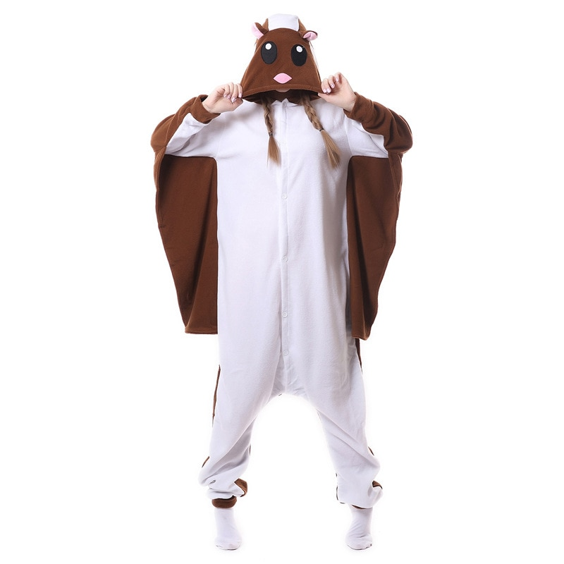 Esquilo voador kigurumi onesies cosplay lilo stitch trajes feminino com capuz animal dos desenhos animados pijamas unicórnio kigurumi macacões