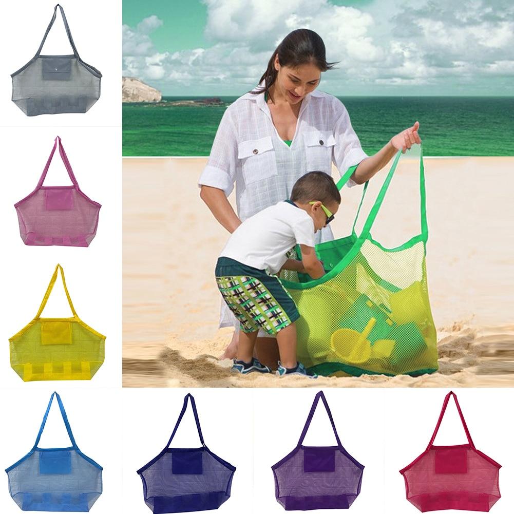 Bolsa de playa de malla caliente, bolsas de playa portátiles de gran capacidad, juguetes ligeros, bolsa de almacenamiento, bolsa de Picnic D6