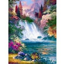 5D diy diamond painting Scenic waterfall full square/round drill lake mosaic embroidery sale rhinestone art wall decor AA1078