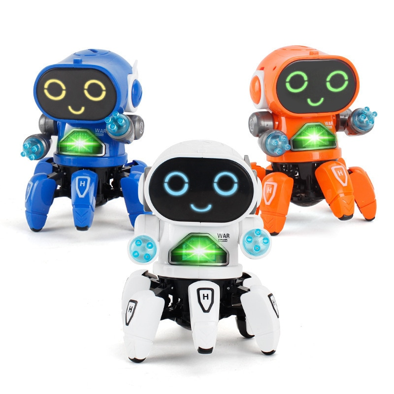 Фото - Kids Learn Voice Robot Toy Intelligent Robot Mini Walking Singing Dancing RC Robot Toys Led Light Kids Learn Voice Educational smart wifi talking interactive dialogue voice recognition record robot singing dancing telling story mini intelligent robot kids