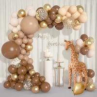retro brown latex balloon garland set colorful balloon arch graduation wedding baby shower birthday party decoration boys girls