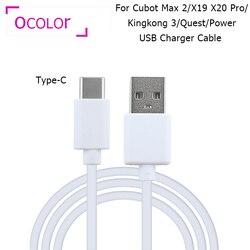 Ocolor para cubot max 2 x19 x20 pro usb carregador cabo adaptador plug cabo de carregamento para cubot kingkong 3 quest power usb data cabo