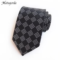personalized silk tie mens necktie grid party tie jacquard woven silk suits necktie 8cm silvery black neckwear male gravata
