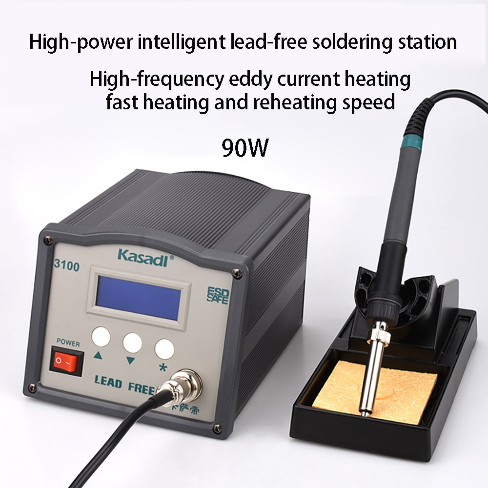 90w Large Display High Frequency Eddy Current Soldering Iron Soldering Station Anti-static Control Soldering Iron 3100 Smart