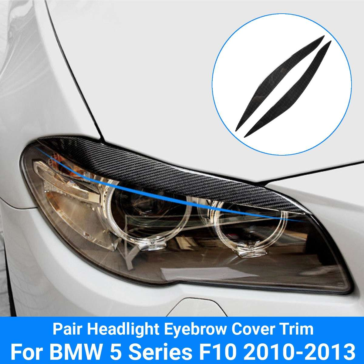Carbon Fiber Headlight Eyelid Eyebrow Cover For Bmw E90 E91 328i 335i 2006 2011 5 Series F10 2010 2013 Headlight Protector Leather Bag