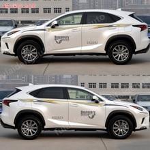 For Lexus NX200t NX300h 2015-2019 decor decal stickers Car Body waist line Left Right Side Body Stripes trim Car Accessories