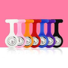 New Solid Color Clip-On Analog Digital Brooch Fob Medical Nurse Pocket Watch Gift Batteries Medical