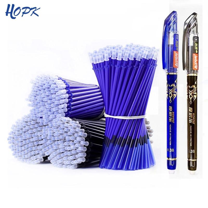 Juego de recarga de 53 unids/lote plumas borrables, mango lavable azul, borrable bolígrafo de Gel, varilla para escritura escolar, papelería, herramienta de regalo para estudiantes