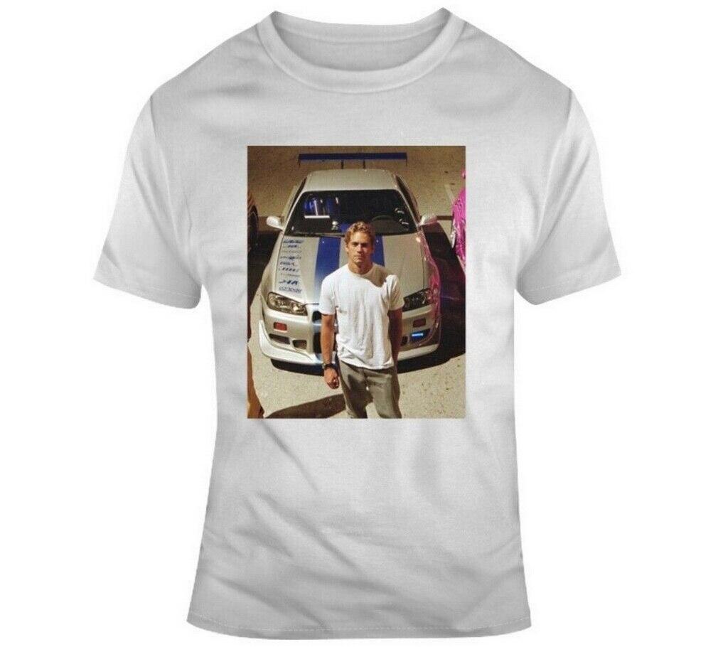 Camiseta Paul Walker Fast Furious Racing Speed Car Fan película camiseta para jóvenes de mediana edad