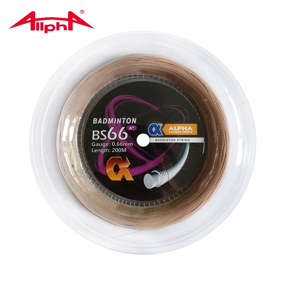 Alpha 2 Reels Badminton Trainging String 200m Control Bs66 A+ Racket String 0.66mm Accessories Line Outdoor Sport Training Net