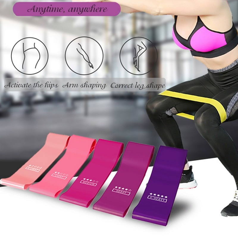 yoga rubber fitness bands training fitness gym exercise gym home strength resistance bands sport crossfit workout equipment Elastic Bands For Fitness Resistance Bands Exercise Gym Strength Training Fitness Gym Pilates Sport Crossfit Workout Equipment