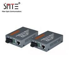 Оптический медиа конвертер HTB 1100S 25km 10/100 Мбит/с RJ45, одномодовый, одноволоконный TX RX SC 1550nm