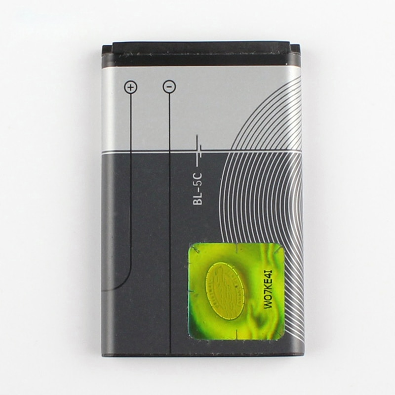 Original BL-5C phone battery for Nokia C2-01 C2-02 C2-03 C2-06 X2-01 5130 6230i N72 N70 5130 2610 6267 7610 E50 3208C