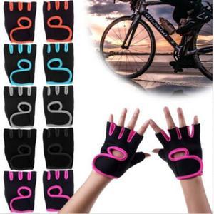 Men Women Unisex Outdoor Indoor Sports Fitness Gym Exercise Training Fingerless Gloves Biking Camping
