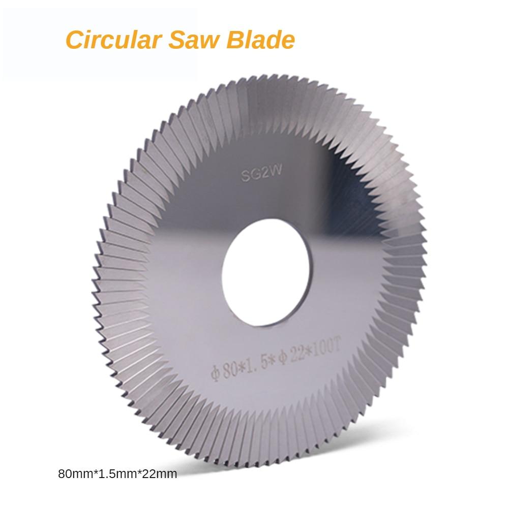 Carbide tungsten steel 80*1.5*22mm*100T key cutter saw blade mini circular saw use for SLICA ,OPERA, TECHNICA  Key  machine