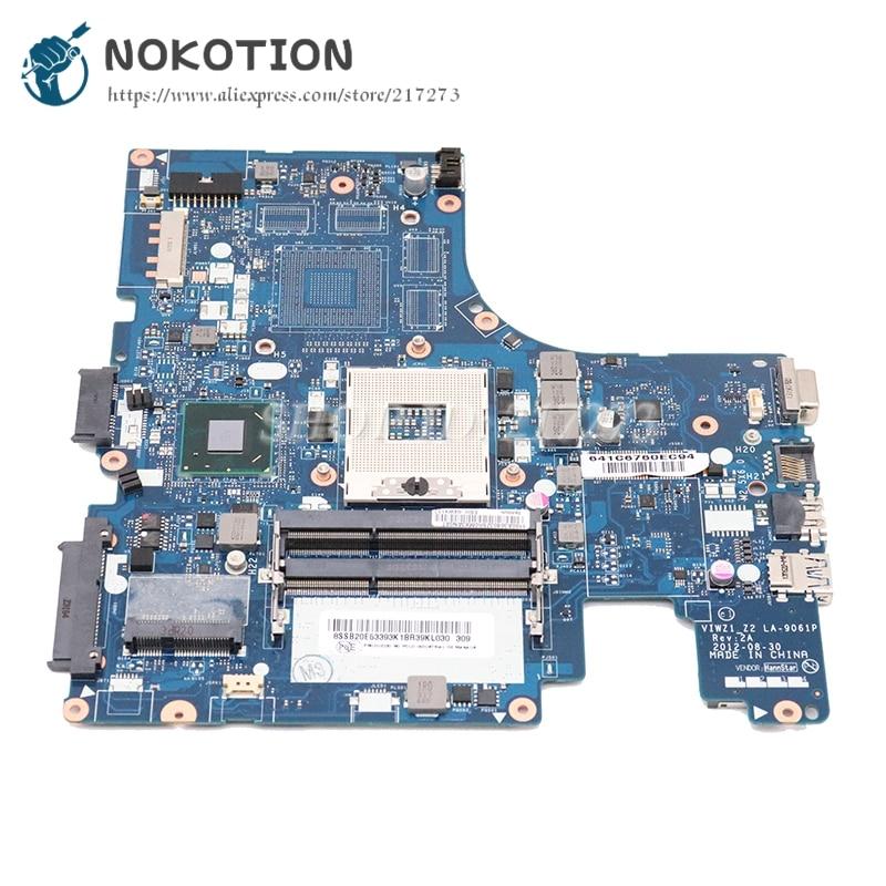NOKOTION VIWZ1 Z2 LA-9061P Rev 2A الرئيسي مجلس لينوفو Ideapad Z400 اللوحة المحمول FRU 04W4140 HM76 DDR3