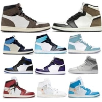Chaussures de Basketball pour hommes  1s  baskets a semelle compensee  en obsidienne