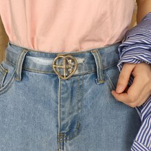 Bigsweety Women's Cute Transparent Belt Female Heart Buckle Waist Sweet Belt Fashion Waistband Ladie