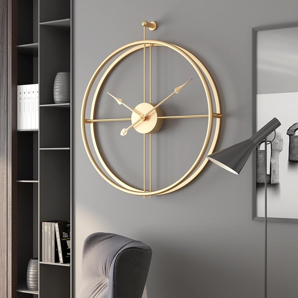 55cm Large Silent Wall Clock Modern Design Clocks for Home Decor Office European Style Hanging Wall Watch Clocks