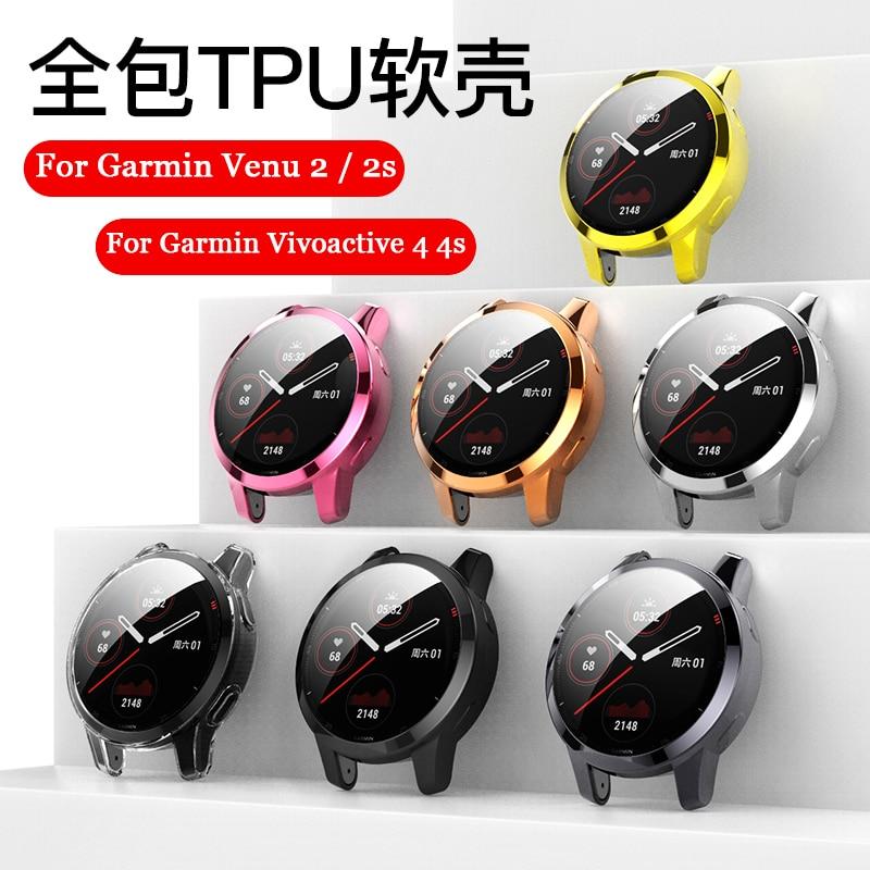 Защитный чехол с покрытием для Garmin CAME 2/2S, защитный чехол-рамка, мягкий чехол из ТПУ для Garmin Vivoactive 4S/4, чехол для смарт-часов чехол