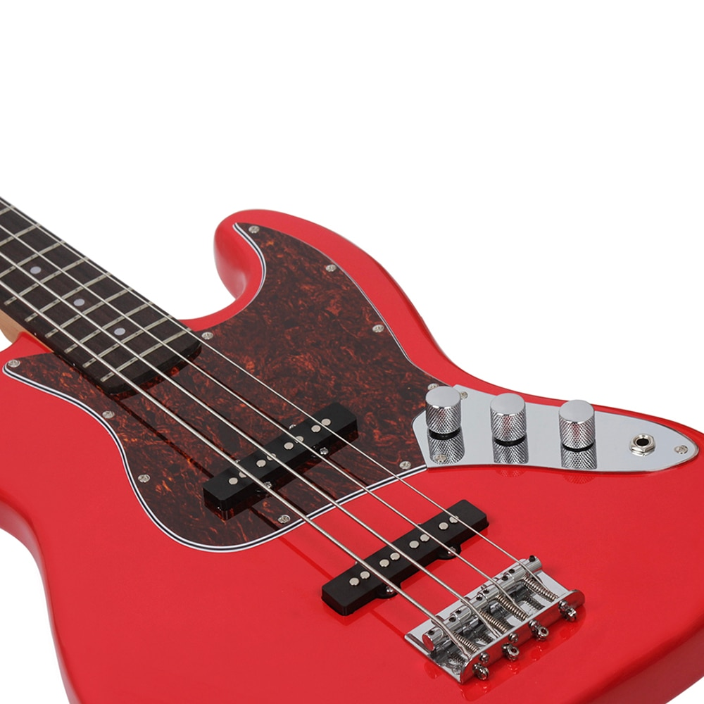 Professional 4 String Electric Bass Guitar Red 20 Frets Sapele Bass Guitar Stringed Instrument With Connection Cable Wrenches enlarge