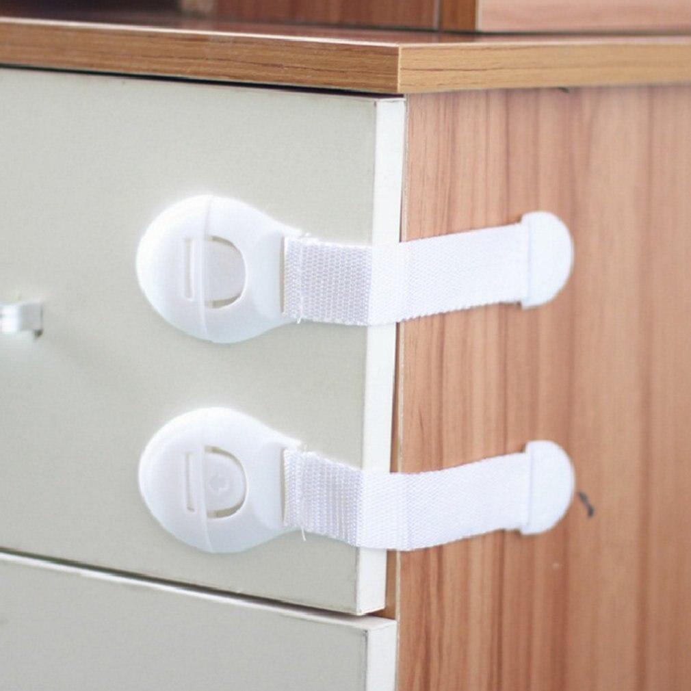 Fechadura de segurança para gavetas, fechadura de segurança para bebês, proteção multifuncional, fechadura para frigorífico para crianças, armário longo com 10 peças