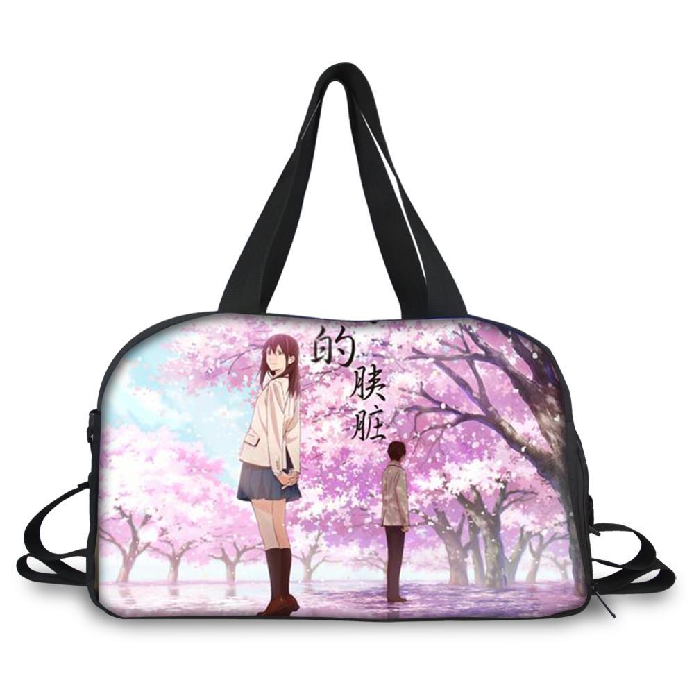 HaoYun водонепроницаемые сумки-тоут, дорожные сумки, я хочу съесть ваши поджелудочные сумки с узором, дорожные сумки для багажа, мужские сумки ...