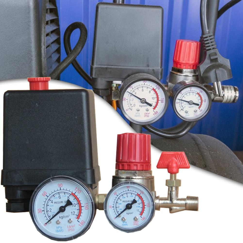 afr 2000 air filter regulator compressor 125PSI Small Air Compressor Pressure Switch Control Valve 16A 220V/AC 4 Ports Adjustable Air Regulator Valve Compressor Parts