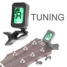 Accordeur de guitare à clipser accordeur numérique à affichage LCD universel Portable pour guitare chromatique/basse/ukulélé/violon