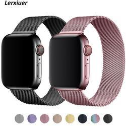 Milanese loop cinta para apple assistir serie 6 5 4 3 se malha de metal cinto pulseira iwatch banda 38mm 42mm apple relógio banda 40mm 44mm
